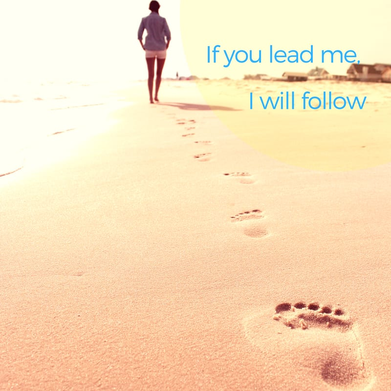 If you lead me, I will follow
