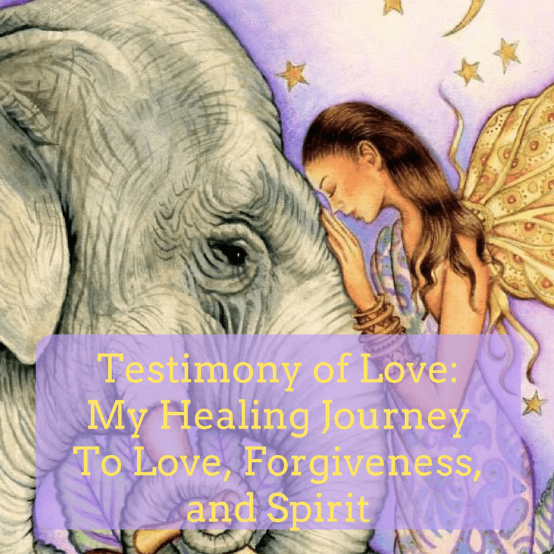 "Come listen to my story ""Testimony of Love: My Healing Journey To Love, Forgiveness, and Spirit"""