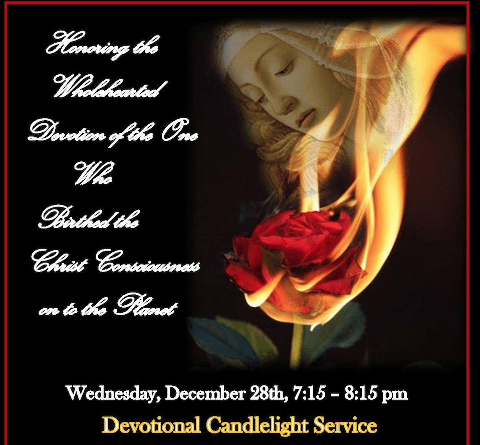 Join me and wonderful women in a Candlelight Service